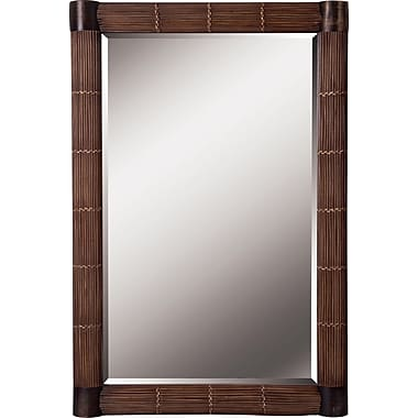 Kenroy Home Bundle Wall Mirror, Natural Reed Finish
