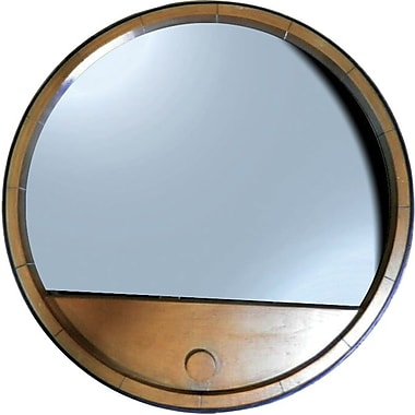 Kenroy Home Vino Wall Mirror, Light Oak Finish