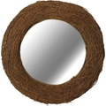 Kenroy Home Harvest Wall Mirror, Natural Rattan Finish