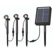 Kenroy Home 3 Light Solar Spotlight String, Black Finish