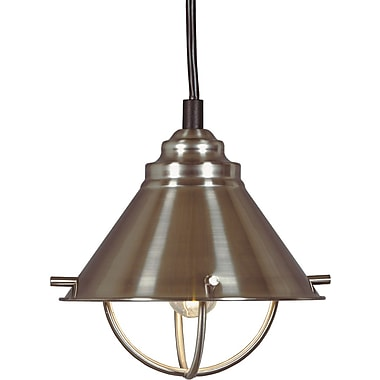 Kenroy Home Harbour 1 Light Mini Pendant, Brushed Steel Finish