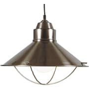 Kenroy Home Harbour 1 Light Pendant, Brushed Steel Finish