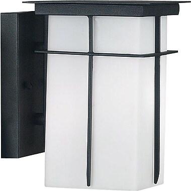 Kenroy Home Mesa 1 Light Small Wall Lantern, Textured Black Finish
