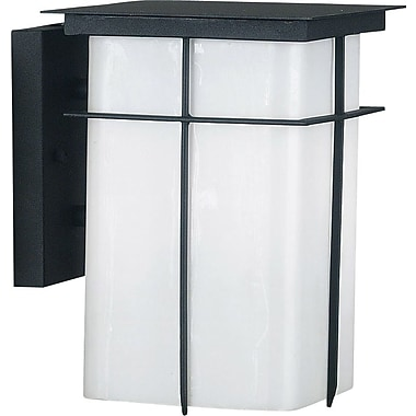 Kenroy Home Mesa 1 Light Medium Wall Lantern, Textured Black Finish