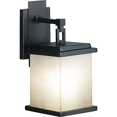 Kenroy Home Plateau 1 Light Small Wall Sconce, Oil Rubbed Bronze Finish