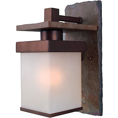 Kenroy Home Boulder 1 Light Medium Wall Lantern, Natural Slate With Copper Finish