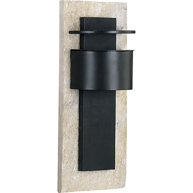 Kenroy Home Pembrooke 1 Light Small Wall Lantern, Natural White Slate with Bronze Finish