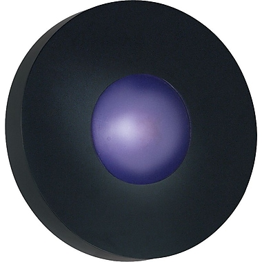 Kenroy Home Burst 1 Light Small Round Flush Wall Sconce, Black Finish