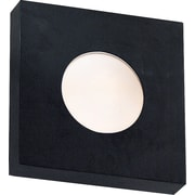 Kenroy Home Burst 1 Light Small Square Flush Wall Sconce, Black Finish