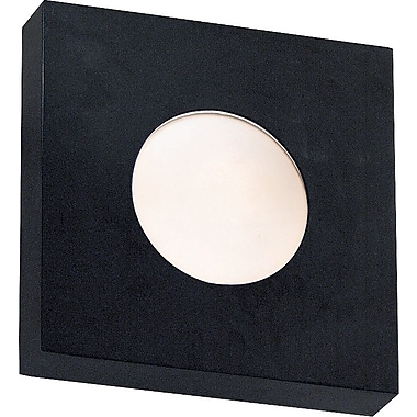 Kenroy Home Burst 1 Light Large Square Flush Wall Sconce, Black Finish