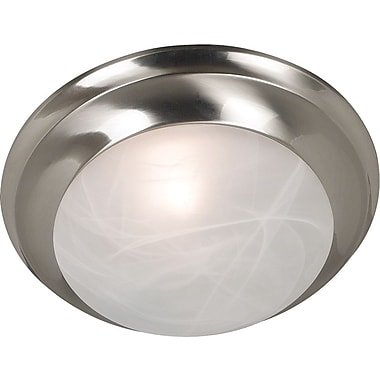 Kenroy Home Dickens 1 Light Flush Mount, Brushed Steel Finish