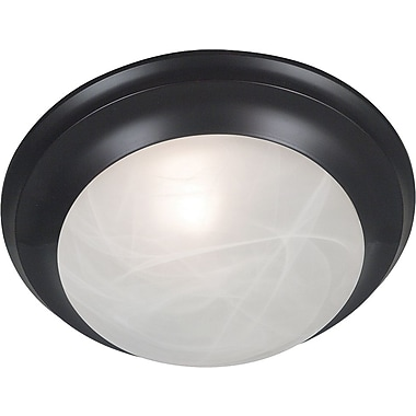 Kenroy Home Dickens 1 Light Flush Mount, Oil Rubbed Bronze Finish