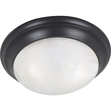 Kenroy Home Dickens 2 Light Flush Mount, Oil Rubbed Bronze Finish