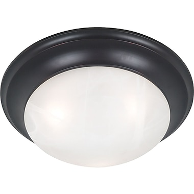 Kenroy Home Dickens 3 Light Flush Mount, Oil Rubbed Bronze Finish