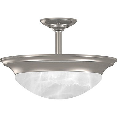 Kenroy Home Dickens 2 Light Semi-flush, Brushed Steel Finish