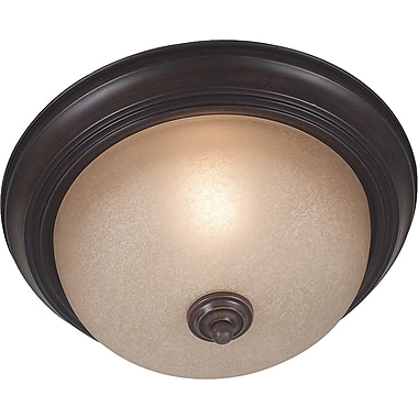 Kenroy Home Triomphe 1 Light Flush Mount, Cocoa Finish