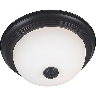 Kenroy Home Triomphe 1 Light Flush Mount, Oil Rubbed Bronze Finish