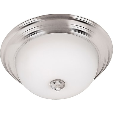 Kenroy Home Triomphe 2 Light Flush Mount, Brushed Steel Finish