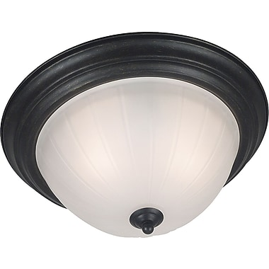 Kenroy Home Interlude 2 Light Flush Mount, Golden Bronze Finish