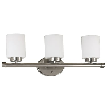 Kenroy Home Mezzanine 3 Light Vanity, Brushed Steel Finish