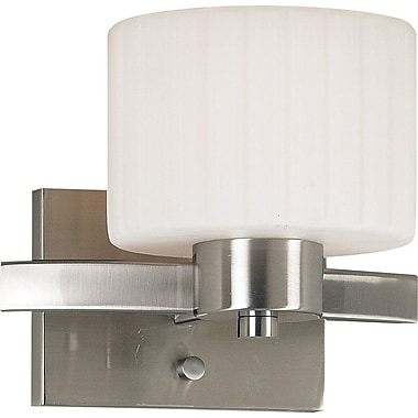 Kenroy Home Legacy 1 Light Wall Sconce, Brushed Steel Finish