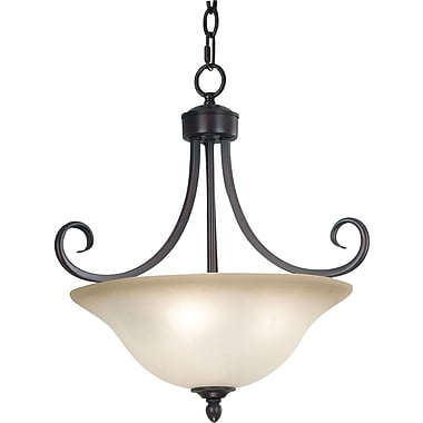 Kenroy Home Welles 3 Light Semi-flush, Oil Rubbed Bronze Finish