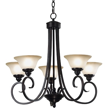 Kenroy Home Welles 5 Light Chandelier, Oil Rubbed Bronze Finish