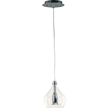 Kenroy Home Bubbles 1 Light Mini Pendant, Chrome Finish