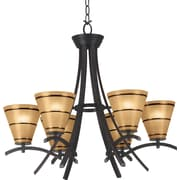 Kenroy Home Wright 6 Light Chandelier, Oil Rubbed Bronze Finish