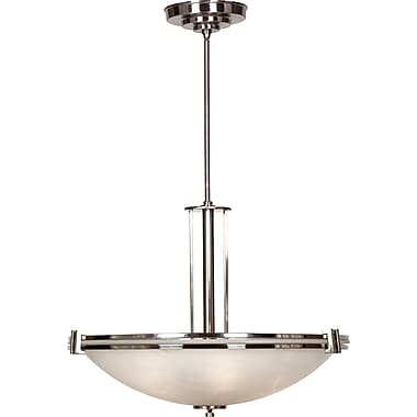 Kenroy Home Lumen 5 Light Pendant, Brushed Steel Finish