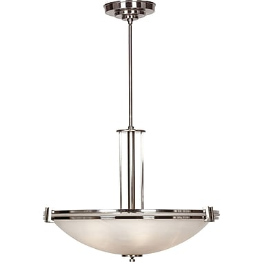 Kenroy Home Lumen 3 Light Pendant, Brushed Steel Finish