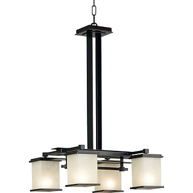 Kenroy Home Plateau 4 Light Chandelier, Oil Rubbed Bronze Finish