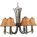 Kenroy Home Kwai 6 Light Chandelier, Bronze Heritage Finish