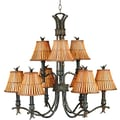 Kenroy Home Kwai 9 Light Chandelier, Bronze Heritage Finish