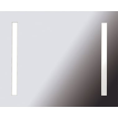 Kenroy Home Rifletta 2 Light Rectangle Vanity Mirror, Silver Finish