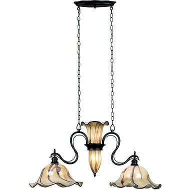 Kenroy Home Inverness 2 + 3 Light Island Light, Tuscan Silver Finish