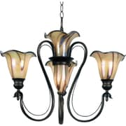 Kenroy Home Inverness 3 + 2 Light Chandelier, Tuscan Silver Finish