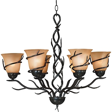 Kenroy Home Twigs 6 Light Chandelier, Bronze Finish