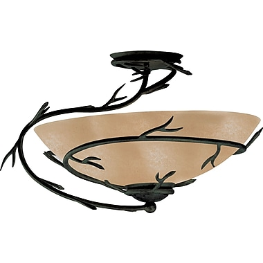 Kenroy Home Twigs 1 Light Semi-flush, Bronze Finish