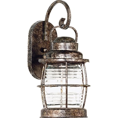 Kenroy Home Beacon 1 Light Small Wall Lantern, Flint Finish