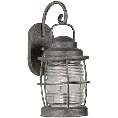 Kenroy Home Beacon Large Wall Lantern, Flint Finish
