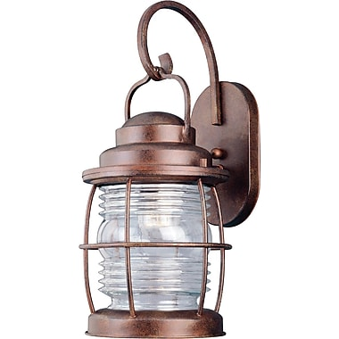 Kenroy Home Beacon Large Wall Lantern, Gilded Copper Finish