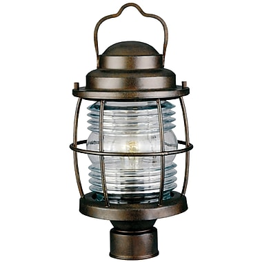 Kenroy Home Beacon Post Lantern, Gilded Copper Finish