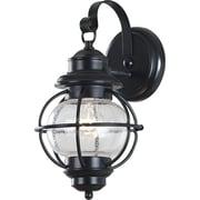 Kenroy Home Hatteras 1 Light Small Wall Lantern, Black Finish