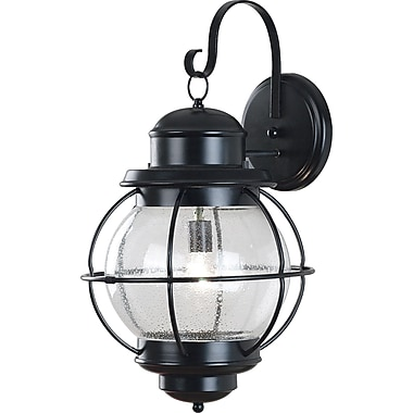 Kenroy Home Hatteras 1 Light xL Wall Lantern, Black Finish