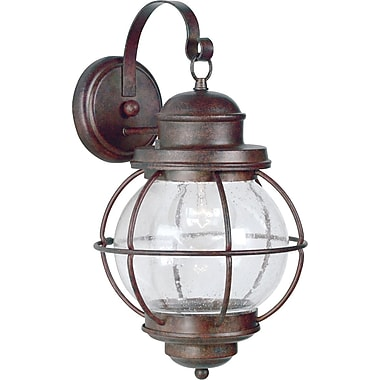 Kenroy Home Hatteras 1 Light xL Wall Lantern, Gilded Copper Finish