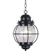 Kenroy Home Hatteras Hanging Lantern, Black Finish