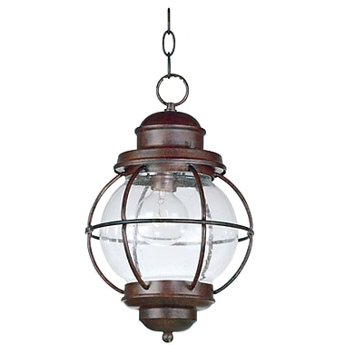 Kenroy Home Hatteras Hanging Lantern, Gilded Copper Finish