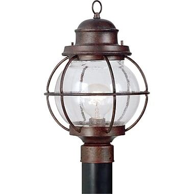 Kenroy Home Hatteras 1 Light Post Lantern, Gilded Copper Finish