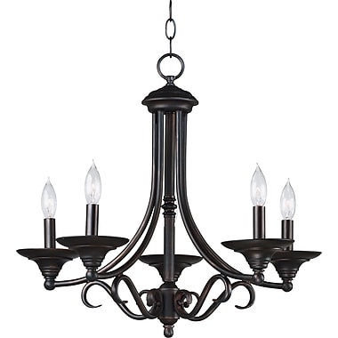 Kenroy Home Hamilton 5 Light Chandelier, Bronze Finish